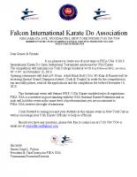 Invitational Letter for FIKA USA 2018