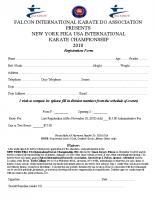 Tournament Registration F (2018