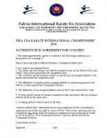 Tournament agreement for coaches