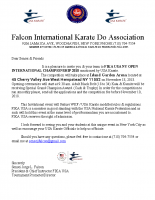 Invitational Letter for FIKA USA 2018