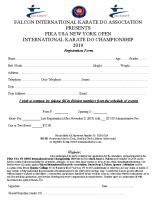 registration form tournament 2019